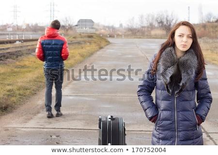 Ragazzi ragazze contrario indicazioni direzione segni Foto d'archivio © stevanovicigor