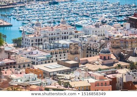 サンファン · ビーチ · 表示 · サンタクロース · 城 · スペイン - ストックフォト © lunamarina