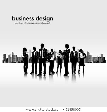 Illustration gens d'affaires ville bureau affaires homme Photo stock © gigra