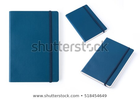 boek · leder · dekken · geïsoleerd · witte · nieuwe - stockfoto © frameangel