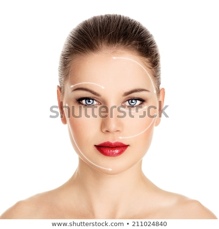 Beautiful young woman red lips with Botox syringe  Stock photo © Nejron