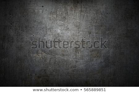 Stock photo: grunge metal background