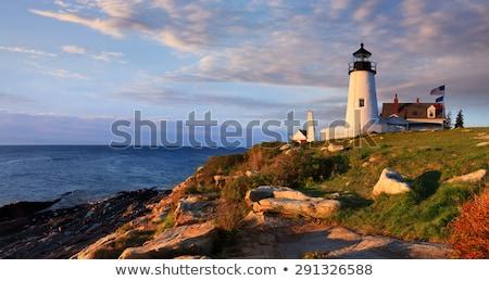 deniz · feneri · nokta · ışık · Maine · ABD · Bina - stok fotoğraf © phbcz