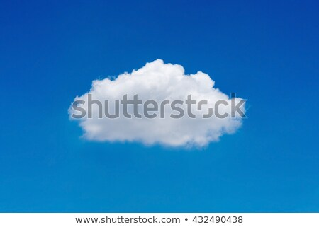 Single Cloud in Bright Blue Sky Stock photo © frannyanne
