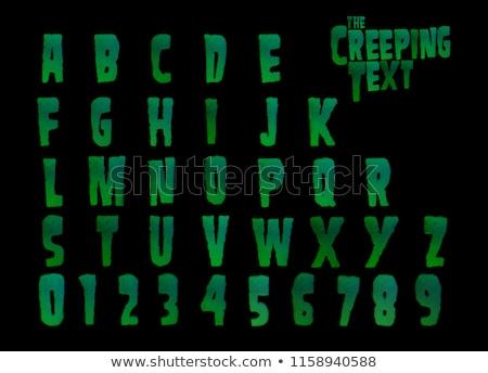 3D horror vírus zöld ábécé fekete Stock fotó © Melvin07