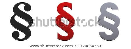 Rood paragraaf teken 3D gegenereerde foto Stockfoto © flipfine