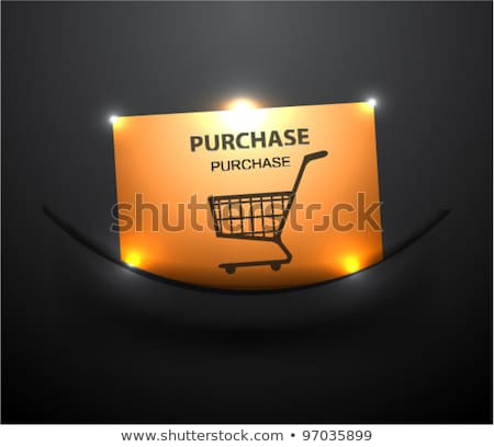 Add To Cart Gold Vector Icon Button Stock photo © rizwanali3d