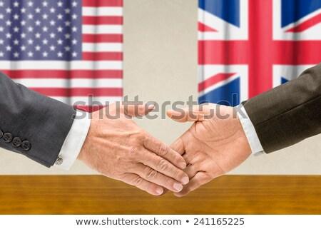 USA handen schudden business handen succes land Stockfoto © Zerbor