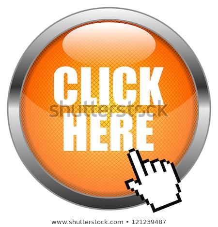 Haga clic aquí dorado vector icono botón tecnología Foto stock © rizwanali3d