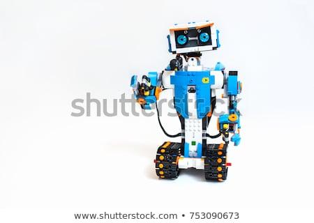игрушку · механиком · робота · ключа · белый - Сток-фото © daboost