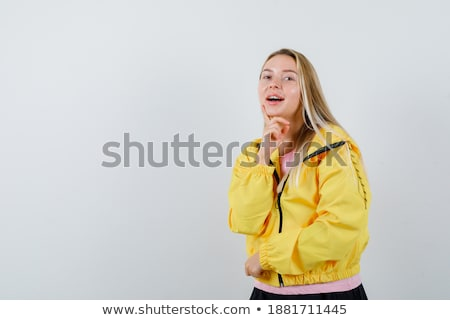 молодые заманчивый Lady позируют плотный черный Сток-фото © acidgrey