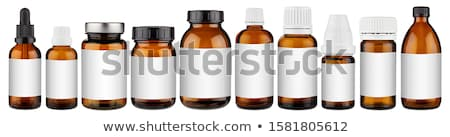 стекла медицинской бутылку копия пространства красочный фон Сток-фото © ironstealth