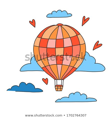 Hot-air Balloon Floating Among Clouds Stock photo © Balefire9