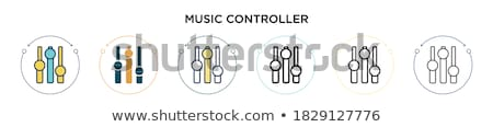 Multimedia Controller Black Vector Button Icon Design Set Stock photo © rizwanali3d