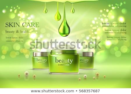 3d девушку зеленый бутылку белый Top угол Сток-фото © nithin_abraham
