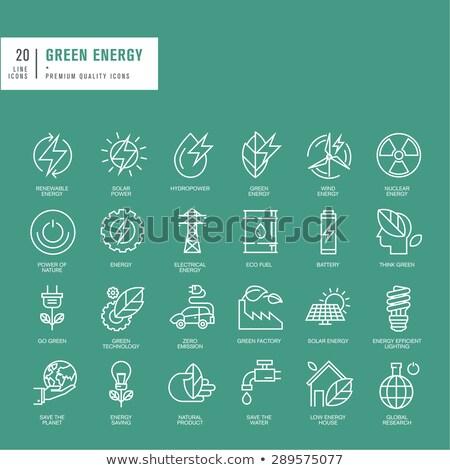 Negatywne moc baterii cienki line ikona Zdjęcia stock © RAStudio