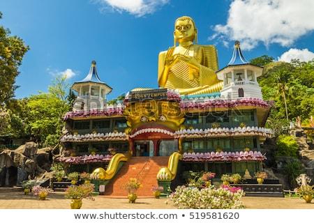 Buddha Sri Lanka gouden tempel hemel Stockfoto © joyr