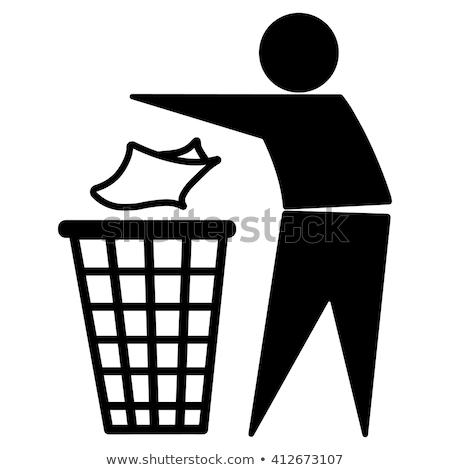 リサイクル ゴミ 男 シンボル ごみ ストックフォト © blaskorizov