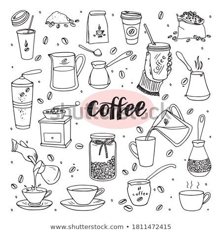 Doodle décoction café excellente eps 10 Photo stock © netkov1