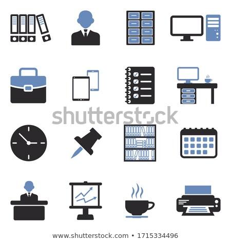Contacts on Office Folder. Toned Image. Stock photo © tashatuvango
