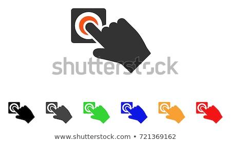 verde · vetor · ícone · botão · internet · teia - foto stock © rizwanali3d