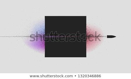 弾丸 ハーフトーン ターゲット 孤立した 白 ストックフォト © Bigalbaloo