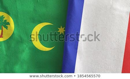 Франция флагами головоломки изолированный белый Сток-фото © Istanbul2009