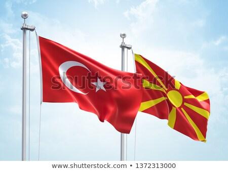 Turquía Macedonia banderas rompecabezas aislado blanco Foto stock © Istanbul2009