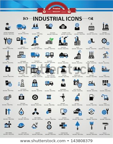Ingenieur Blauw vector icon knop internet Stockfoto © rizwanali3d