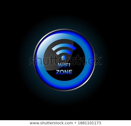 Wifi wektora niebieski web icon przycisk Zdjęcia stock © rizwanali3d