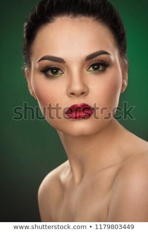 etéreo · verde · mulher · jovem · branco · véu - foto stock © svetography