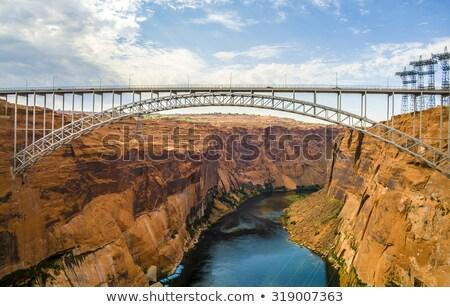 Velho ponte cruzes Colorado desfiladeiro mármore Foto stock © meinzahn