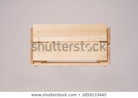 Fából készült négyszögletes paletta izolált fehér festmény Stock fotó © Leonardi