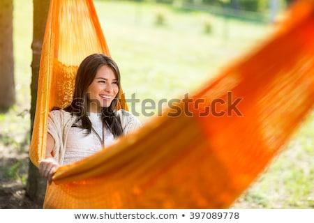 Aşağı hamak asılı sandalye Stok fotoğraf © FOTOYOU