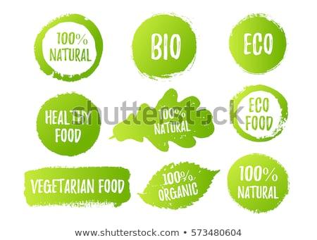 Herbe bio texte signe forme blanche Photo stock © make