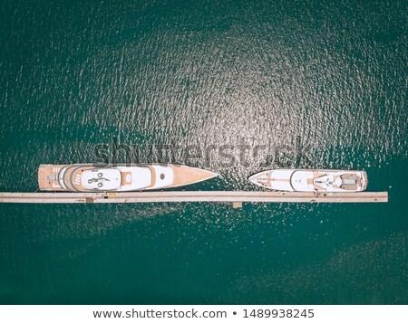 Su güneş yaz gemi göl yelkencilik Stok fotoğraf © offscreen
