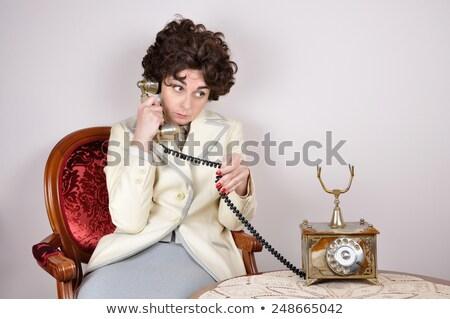 沈痛 · 女性実業家 · 座って · 表 · 孤立した · 白 - ストックフォト © deandrobot