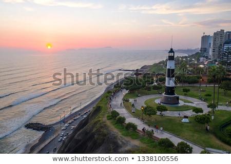 Peruvian family at sunset Stock photo © adrenalina