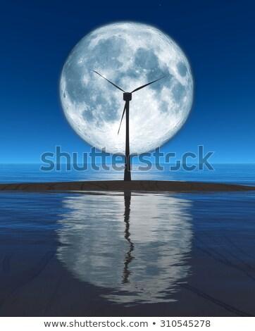 windmolen · blauwe · hemel · perspectief · hemel · natuur · landschap - stockfoto © pedrosala