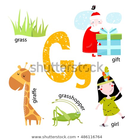 A letter G for grasshopper Stock photo © bluering