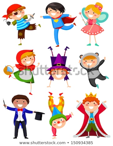 children wearing different costumes stock photo © bluering