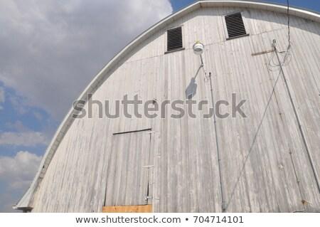 old barn in winter saskatchewan stock photo © pictureguy