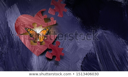 robot · kalp · 3d · illustration · bilgisayar · Metal · mavi - stok fotoğraf © idesign