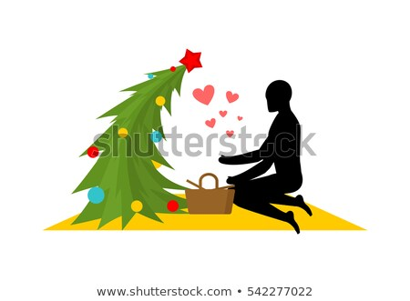 Christmas Lover. Christmas tree at picnic. Rendezvous in Park. M Stock photo © MaryValery