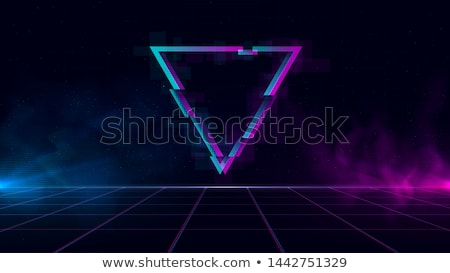 Сток-фото: синий · ретро · неоновых · волны · вектора