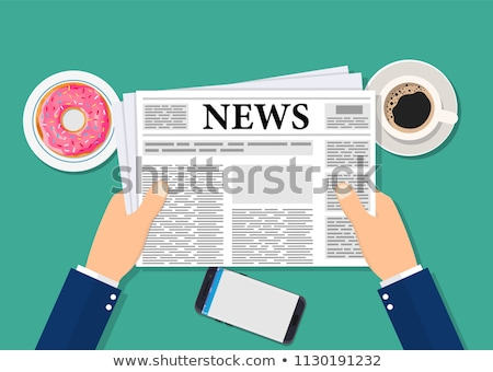 Man reading newspaper with the headline Food and Drink Stock photo © Zerbor