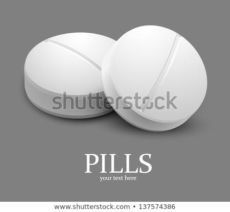 dois · branco · médico · pílulas · isolado · medicina - foto stock © lightfieldstudios