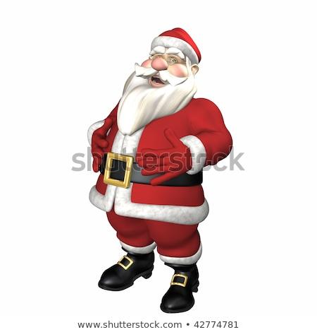 Święty · mikołaj · brzuch · odizolowany · zabawki · śmiać - zdjęcia stock © kayros