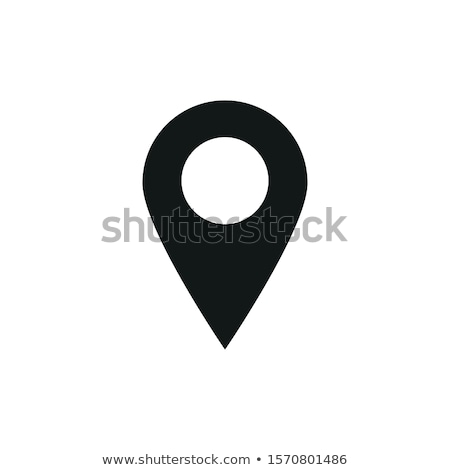 Ubicación icono diseno negocios aislado ilustración Foto stock © WaD