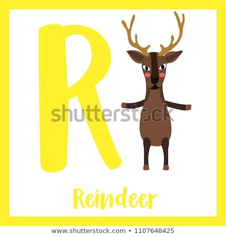 gyerekek · aranyos · állatok · rajz · vektor · angol · levelek - stock fotó © robuart